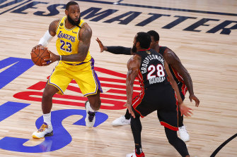 Miami could not stop LeBron James and the Lakers.