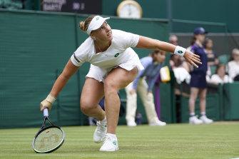 Russia's Anna Blinkova handled Barty's backhand slice better than most.