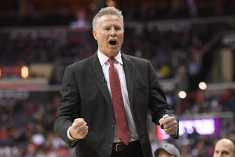 Brett Brown will lead the Boomers to the Tokyo Olympics.