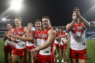 Tom Papley is just one of a new generation of Swans beginning to endear themselves to the Bloods faithful.