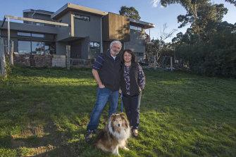 Bill and Helen Keramidas at their Mullum Creek home, east of Melbourne.