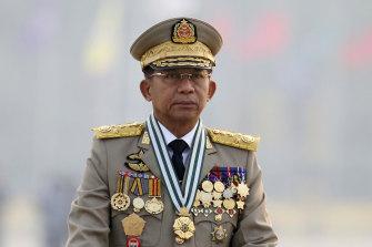Coup leader General Min Aung Hlaing.