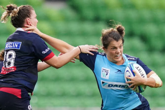 Waratahs captain Grace Hamilton had a fine game against the Rebels on Friday.