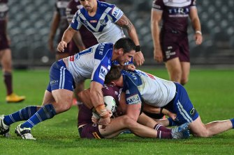 Crackdown: The NRL has tackles such as this one in its sights.