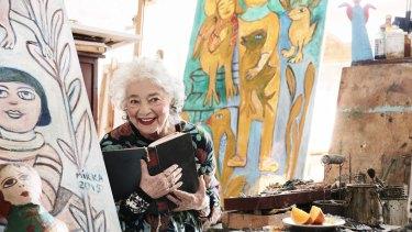 The late artist Mirka Mora in her Richmond studio, 2016.