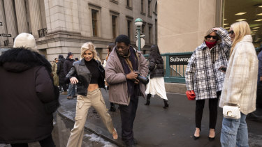 95bd34d036 Cargo pants spotted in the wild during New York Fashion Week in February.