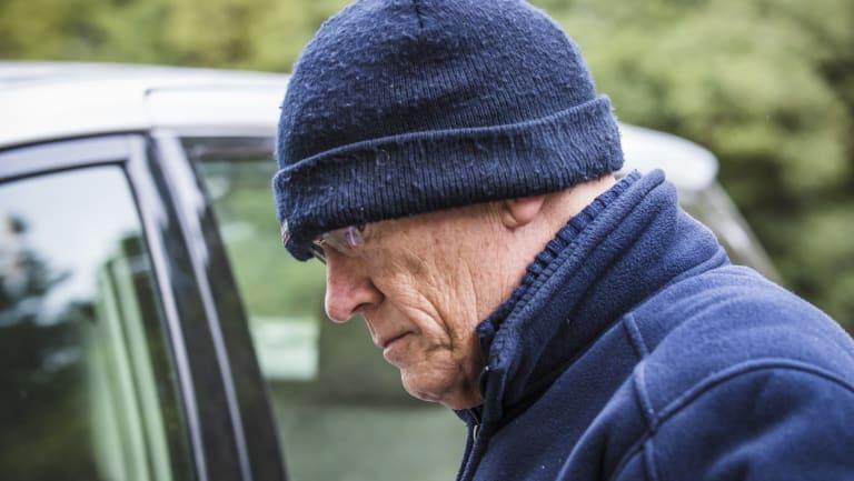 David Eastman arrives for the jury empanelment earlier this year.