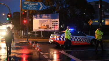 Police set up an exclusion zone outside the hospital following the incident on Thursday.