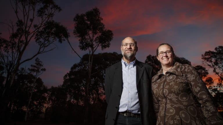 UNSW academics and space ethicists Stephen and Nikki Coleman.