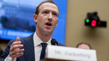 Facebook CEO Mark Zuckerberg testifies before a House Energy and Commerce hearing on Capitol Hill in Washington in April.