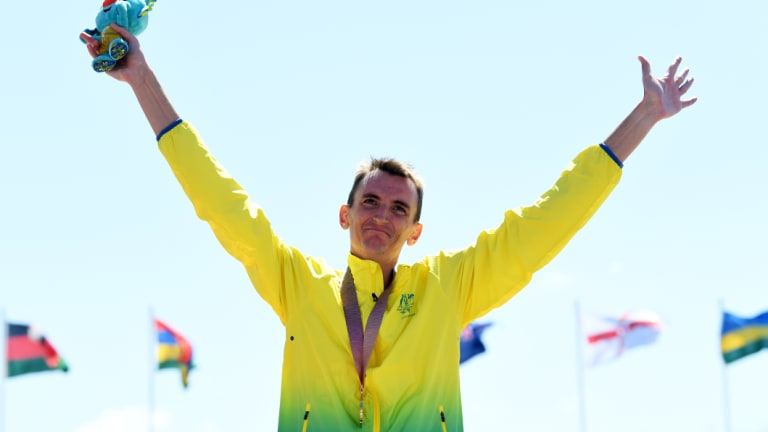 Gold medal performance: Michael Shelley.