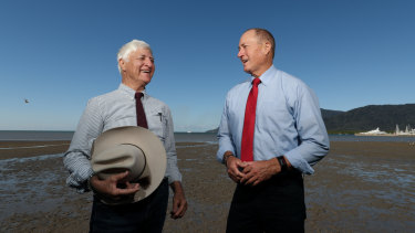 Bob Katter and Fraser Anning in happier times.