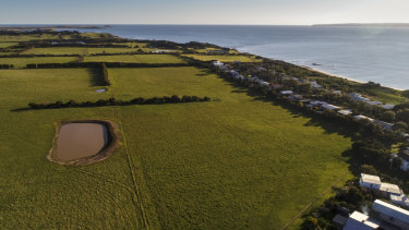 The farmland in Ventnor at the centre of Matthew Guy's controversial planning decision.