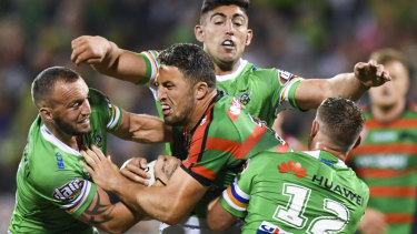 Chinks in the armour: The rumour mill has been in overdrive about Sam Burgess' state of mind at the Rabbitohs.