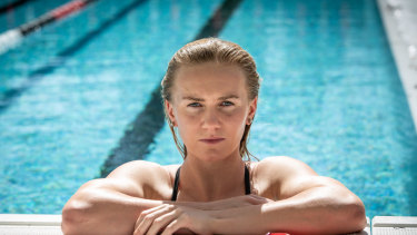 Game face: Titmus hopes US superstar Katie Ledecky sees her as a genuine rival heading towards the next Olympics.