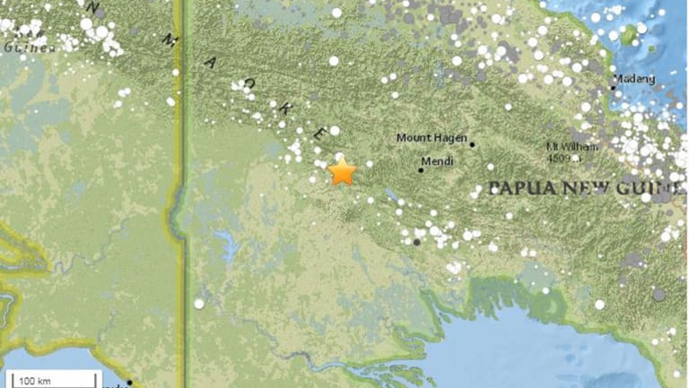 A map of where the original earthquake hit.