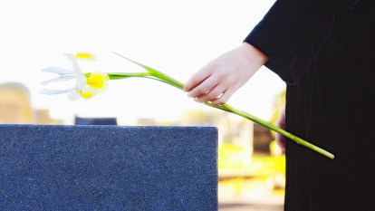 We sat on a bench near his wife's grave. When he died, I knew I had to return