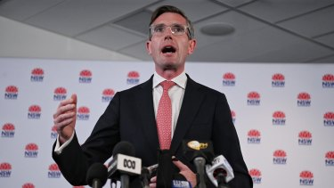 NSW Treasurer Dominic Perrottet on Monday, as he repeated comments he had made previously and called for the federal government to tie reopening international borders to vaccination targets.
