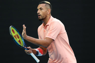 Kyrgios is taking on the world number one Nadal in a fourth-round blockbuster.