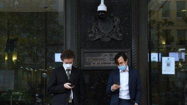 Jordan Shanks (right) and Kristo Langker outside court last week.