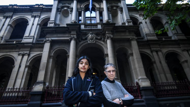 Anjali Sharma, 16, and her litigation guardian Sister Brigid Arthur, 86.
