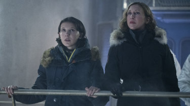 Millie Bobby Brown and Vera Farmiga star in Godzilla: King of the Monsters.