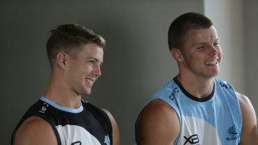 Brothers in  arms... for now: Blayke and Jayden Brailey.