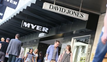 Myer and David Jones have been hit hard by the ongoing retail slump.