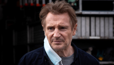 """Liam Neeson on the set of """"Blacklight"""" in Melbourne."""