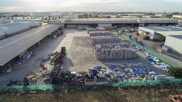 Aerial photo of SKM Recycling's Laverton North plant.