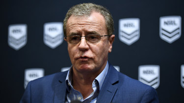 Heading in the right direction: NRL head of football Graham Annesley.