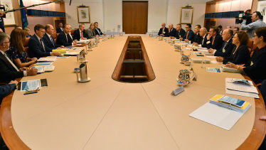 The state treasurers meet with Mr Frydenberg in Canberra.