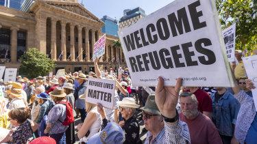 Large crowds in Brisbane.