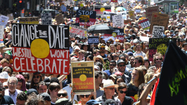 Melbourne's Invasion Day rally is usually the largest in the country.