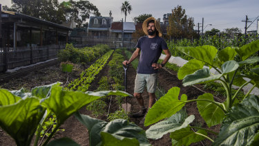 Michael Zagoridis is one of the managers at Pocket City Farms in Campberdown says using too much chemical herbicide and fertiliser is 'digging a hole for future generations'.