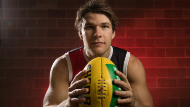 Knocking on the door: St Kilda's Nathan Freeman enters a fifth season without having played a senior AFL game due to persistent hamstring injuries after being a top 10 selection at 2013 draft.