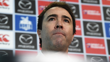 Career coach? Brad Scott maintains he is yet to speak to other clubs.