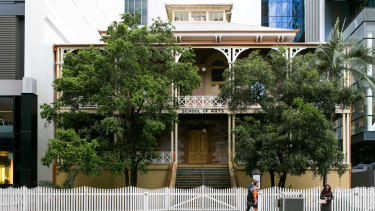 The 1860s-era Brisbane School of Arts building is being restored by Brisbane City Council.