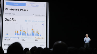 Apple's Craig Federighi talks about the new Screen Time features at WWDC.