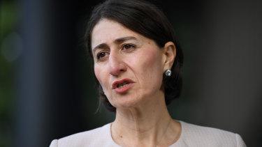 NSW Premier Gladys Berejiklian providing an update on COVID-19 on Thursday morning.