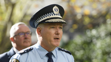 NSW Police Commissioner Mick Fuller brought action in the NSW Supreme Court.