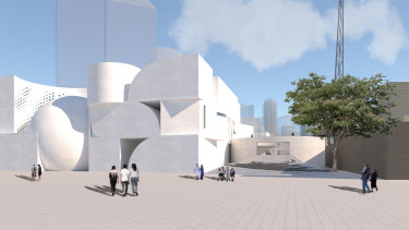 Design for NGV Contemporary, Southbank by Jiali Sun, Melbourne School of Design.
