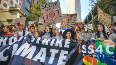 School strike for climate change in March.