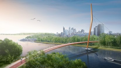 New pedestrian bridge to be built connecting Victoria Park to CBD via Heirrison Island
