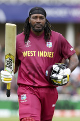 Swing for the fences: Chris Gayle.