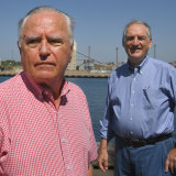 David Gordon and Christopher Levy, of the Jacksons Landing Coalition, who want a curfew for the development.