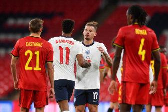 England beat Belgium at Wembley.