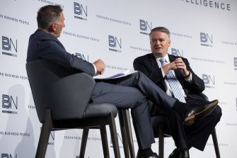 Finance Minister Mathias Cormann during the Business News breakfast.