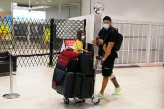Sonny Bill Williams arrived in Sydney on Thursday evening and headed straight for hotel quarantine.