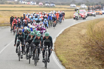 Riders protested against the length of the 19th stage.